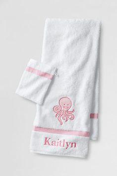 Kids' 2-Piece Applique Towel Set from Lands' End