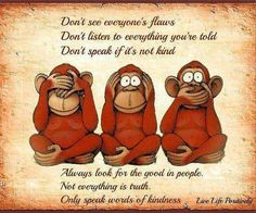Zen Matters: See No Evil, Hear No Evil, Speak No Evil.