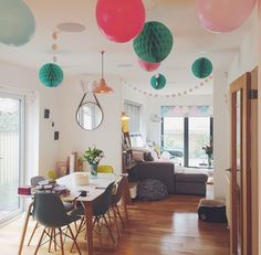 Zoella birthday party dining room decoration