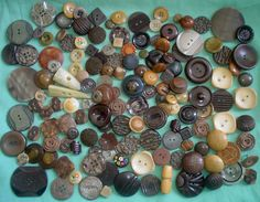 Huge lot of over 100 vintage brown buttons  what by VintagePointUK, £17.50