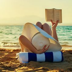 View top-quality stock photos of Relaxing And Reading Woman On Beach. Find premium, high-resolution stock photography at Getty Images. Beach Bum, Summer Beach, Beach Relax, Sand Beach, Beach Girls, Happy Summer, Happy Weekend, Ocean Beach, Summer Vibes