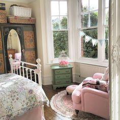Victorian shabby chic bedroom