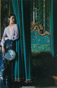 Oriental fashionista: Liu Wen in Haute Couture collection for Harper's Bazaar China. Liu Wen, Geisha, China Fashion, Fashion Art, Fashion Design, Fashion Trends, Fashion 2018, Fashion Fashion, Spring Fashion