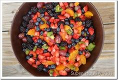 Fruit salad for kids