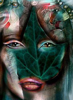 Leaf    by Irmak Akcadogan  Art Print
