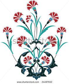 Traditional ottoman turkey turkish tulip tile design