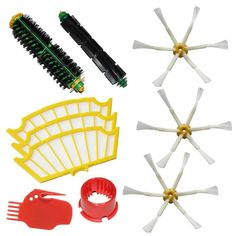 (10 pcs/lot) Brush Kit For iRobot Roomba 500 530 560 510 550 570 580 610 Vacuum Robots all Green, Red, Black cleaning head //Price: $US $18.69 & FREE Shipping //     #kitchenappliances