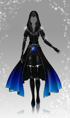 (closed) Auction Adopt - Outfit 368 by CherrysDesigns on DeviantArt Clothing Sketches, Dress Sketches, Dress Drawing, Drawing Clothes, Fashion Design Drawings, Fashion Sketches, Fashion Mode, Fashion Art, Anime Outfits