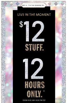 Nasty Gal Email 12 Stuff. 12 Hours Only.