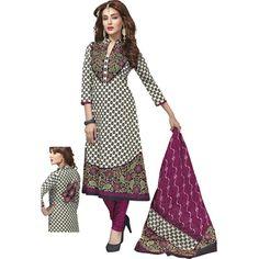 7943fe328b41 Buy NVD ENTERPRICE White Cotton Dress Material by NVD ENTERPRICE
