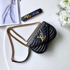 957442791f8d Louis Vuitton New Wave Chain Bag PM M51683 Deep-black Noir Black Louis  Vuitton Bag