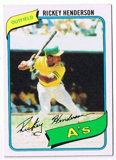 1980 Topps Rickey Henderson Rookie Card
