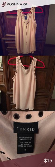 Torrid Pink Tank Pink Tank from Torrid. Lightweight and is great for layering! I've worn but it is still great! Wear it with anything! torrid Tops Tank Tops
