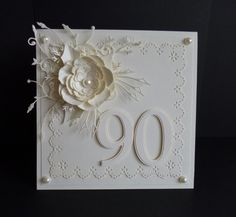 Ivory Birthday for special occasion ~ change up the #s!