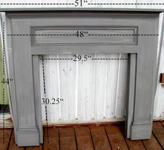 blue roof cabin: Mantel Made From Pine Boards  She shows how easy it can be to make a faux or real one.