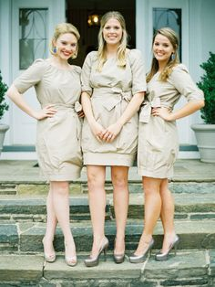 J Crew bridesmaids dresses.