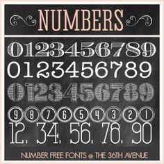 The 36th AVENUE | Number Free Fonts | The 36th AVENUE