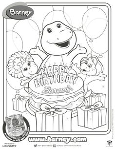 Barney and Friends coloring picture  Crafts  Pinterest