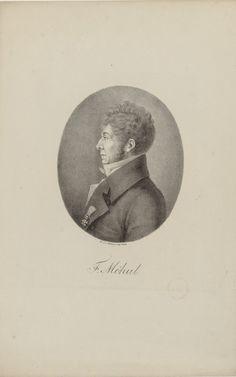 Étienne-Nicolas Méhul (1763-1817), lithograph (1817), by Heinrich Winter (1788-1825) [after an engraving (1808), by Edme Quenedey (1756-1830)], published in Portraite der berühmtesten Compositeurs der Tonkunst, plate 58.