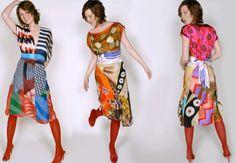 Silk scarves dress/ foulard
