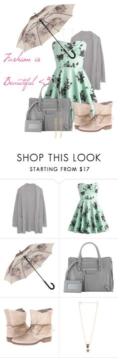 """""""Fashion Is Beautiful Icon"""" by jkui ❤ liked on Polyvore featuring Margaret O'Leary, Balenciaga, Miz Mooz and Monica Vinader"""
