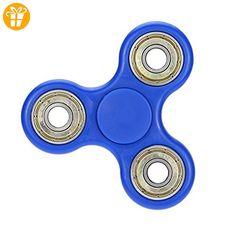 Hand Spinner Stress Relief Spielzeug, Tri-Spinner Fidget Toy 3D Druck Keramik Lager EDC Focus Spielzeug für Töten Zeit (blau) - Fidget spinner (*Partner-Link)