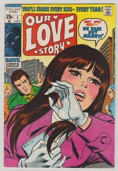 Our Love Story Vol 1 1 Silver Age Romance by RubbersuitStudios Marvel Comic Books, Marvel Comics, Vintage Pop Art, Comics For Sale, Romance Comics, Silver Age Comics, Pulp, Vintage Comics, Cool Posters