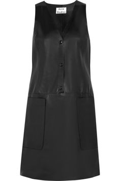 I love leather. I can't help it. Chaplin leather mini dress by Acne Studios.