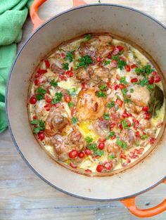 Garlic Chicken White Wine Recipe #Garlic #Chicken #White_Wine #Paleo #Italian