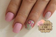 Nail Art Shabby Chic