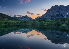 Silence on Wedge Pond by Robert Scott on Robert Scott, Pond, Reflection, Wedge, Mountains, Nature, Photography, Travel, Voyage