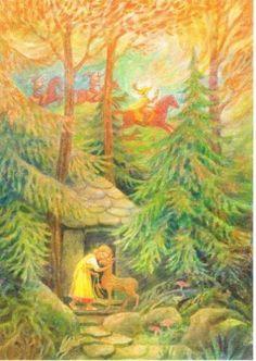 Postkarte-Karte-Maerchen-Bruederchen-und-Schwesterchen-div-Motive-waehlbar
