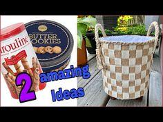 2 Diy Jute Craft Ideas/ Jute Burlap Basket/ أعمال يدويه من الخيش روعه - YouTube Jute Crafts, Recycling Ideas, Burlap, Corner, Basket, Craft Ideas, Creative, Youtube, Diy