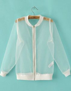 Cheap organza coat, Buy Quality mesh jacket women directly from China fashion women jacket Suppliers: Hipster 2017 Summer women jacket Fashion Sun Proof See-through Mesh Jackets Women Sexy cool Transparent Extra Thin Organza Coat Mesh Jacket, Fashion Outfits, Womens Fashion, Fashion Trends, Inspiration Mode, Mode Style, Jacket Style, White Long Sleeve, Ideias Fashion