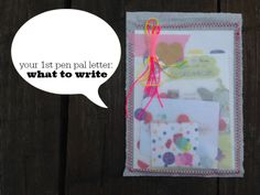 1st pen pal letter : what to write