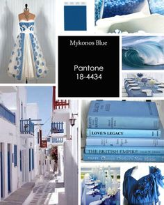 Mykonos Blue is inspired by designer and architect Ettore Sottsass. Beautiful color for a summer wedding