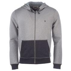 Original Penguin Grey Marl Mens Zip Hoody via Polyvore featuring men's fashion, men's clothing and men's hoodies