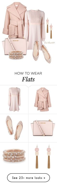 """""""dress for fall"""" by leeann829 on Polyvore featuring Carven, Giamba, MICHAEL Michael Kors, Melinda Maria, Versace, Fall, Pink, dress and polyvoreeditorial"""