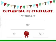Certificate of completion work pinterest certificate blank printable certificate template with colored flags and a red wax seal yelopaper Choice Image