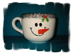 Christmas snowman cup ideas-mug | Flickr - Photo Sharing!