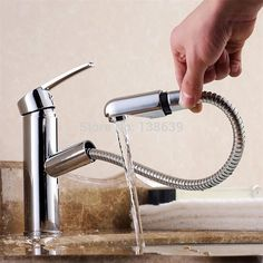 91.89$  Watch now - http://ali0pe.worldwells.pw/go.php?t=32325594191 - Torneira Cozinha.Polished Chrome Brass  Pull Out bathroom Faucet.good quality bathroom Tap Sink basin Mixer faucet,modern faucet 91.89$
