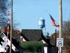 mechanicsburg ohio rooftops and water tower