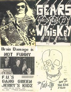 Mens Collections: Original Punk Flyer Graphics