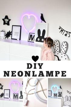Eine Neonlampe selbermachen? Nichts leichter als. In nur 4 Schritten und mit Material, das man in jedem Baumarkt findet.   Kinderzimmer  DIY-Lampe Diys, Material, Diy Lamps, Make Your Own, Child Room, Bricolage, Do It Yourself, Homemade, Diy