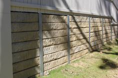 Cement Retaining Wall Looks Like Wood Home Retaining