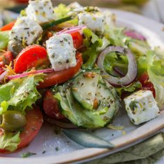 One of the best and healthiest salads that we love to have is our version of the Healthiest Greek Salad.
