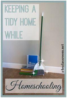 Having a hard time keeping your house clean while you're homeschooling? We're sharing some very doable tips for keeping your home clean while homeschooling!