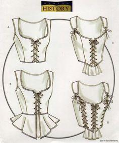 Butterick B4669 SEWING PATTERN 6-12 Renaissance/Medieval Corset Bustier Costume