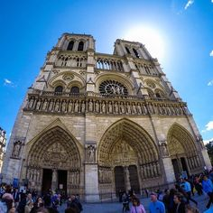 The beautiful Notre-Dame Cathedral in Paris, France. Amazing architecture. #GoPro #city #paris #france #notredame #travel #wanderlust