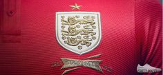 Nike's New England Away Kit Reflects Distinctive History and Style England Kit, Wembley Stadium, Red Shirt, Porsche Logo, Lions, Nike, Shirts, Style
